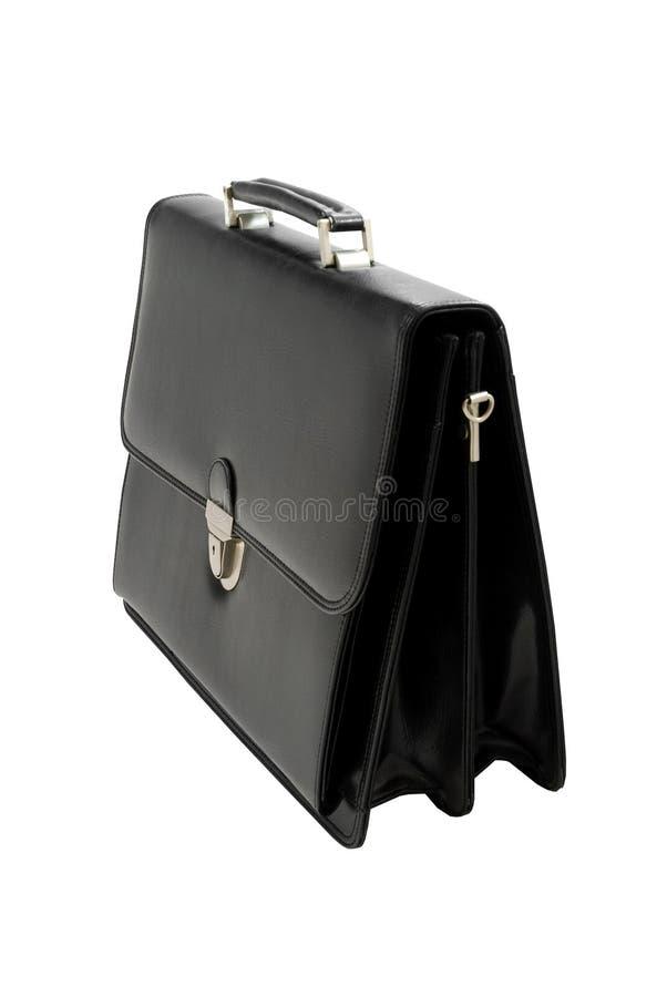 почерните изолированный чемодан стоковая фотография