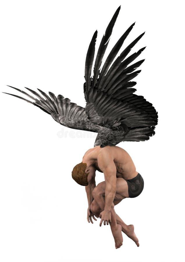 почерните крыла бесплатная иллюстрация