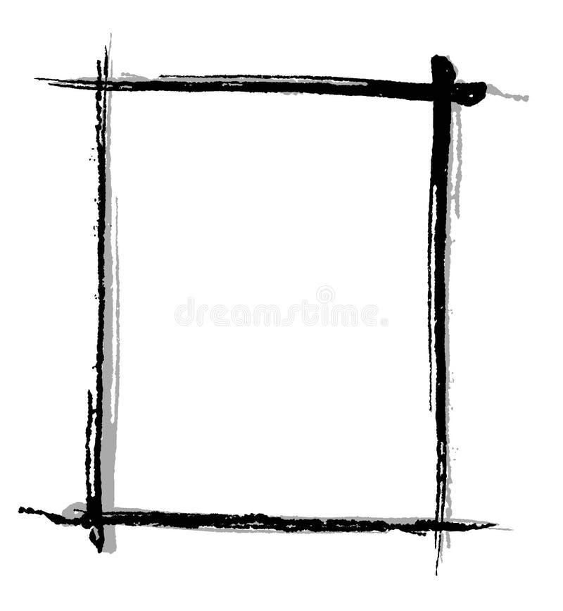 почерните рамку щетки иллюстрация вектора