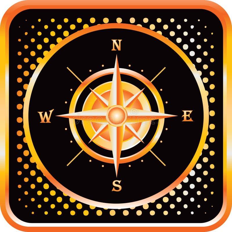 почерните сеть померанца иконы halftone компаса бесплатная иллюстрация