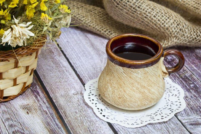 почерните чай чашки стоковое изображение