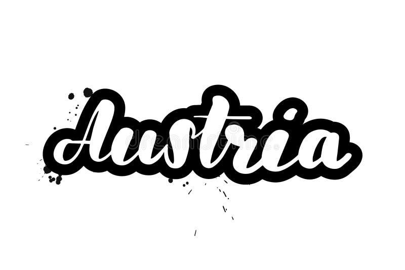 Почистьте помечать буквами щеткой Австрию бесплатная иллюстрация