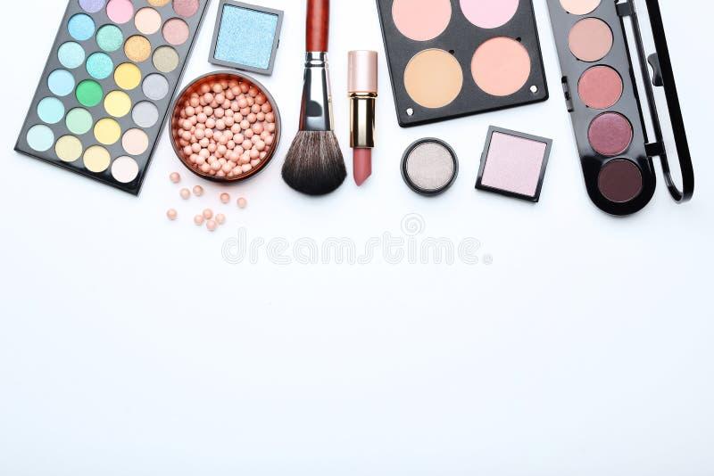 почистьте состав щеткой косметик стоковые фото