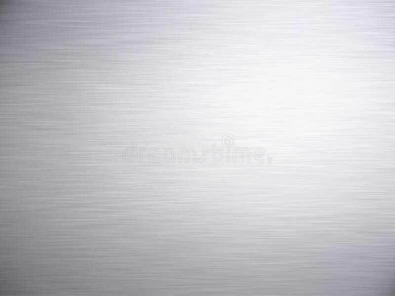 Почищенная щеткой стальная алюминиевая текстура предпосылки металла стоковая фотография rf
