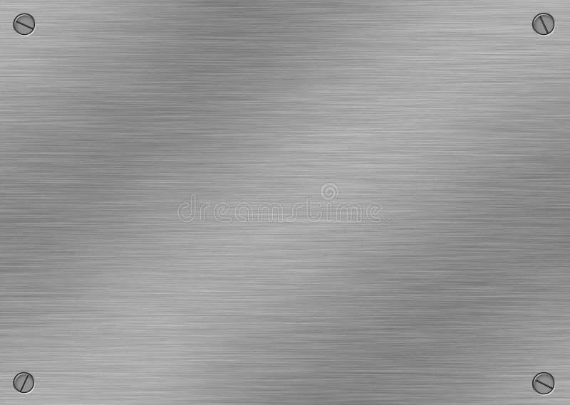 почищенный щеткой алюминий иллюстрация штока