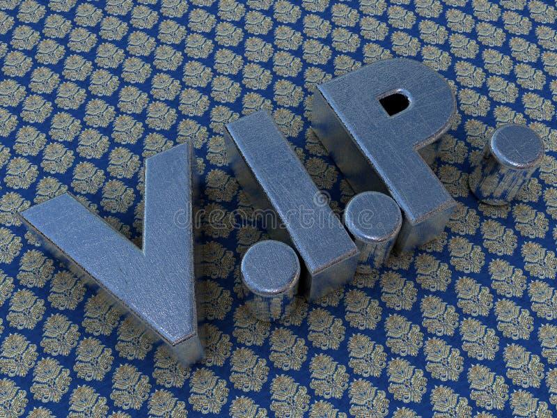 почищенный щеткой металл vip логоса иллюстрация вектора