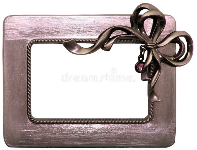 почищенный щеткой смычком металл рамки стоковые фотографии rf