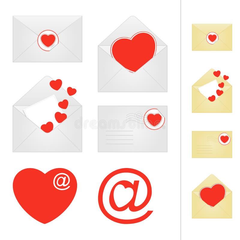 Почта влюбленности бесплатная иллюстрация