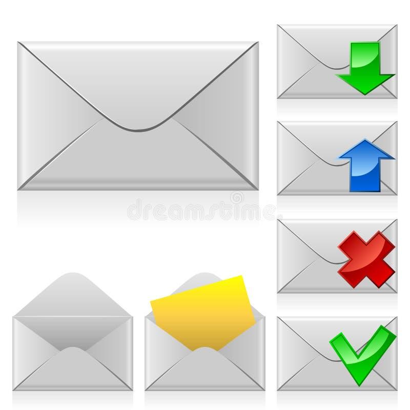 почта икон иллюстрация вектора