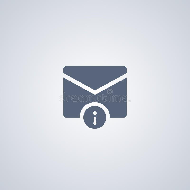 Почта, информация, vector самый лучший плоский значок бесплатная иллюстрация