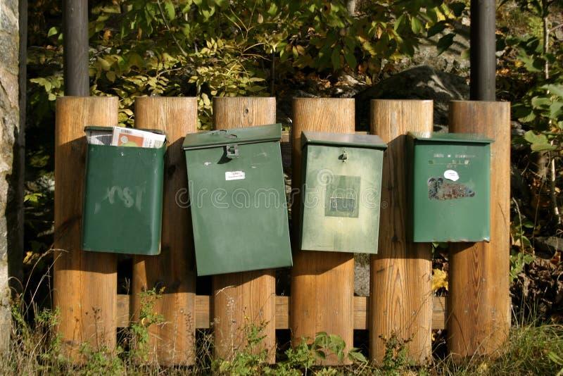 почта коробок Стоковые Изображения RF