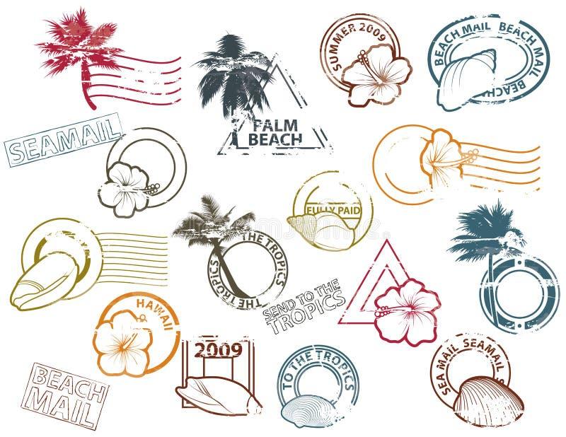 почта к tropics иллюстрация штока