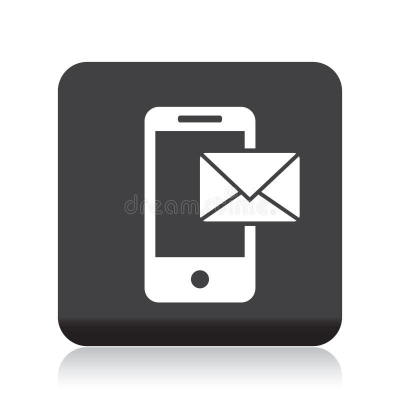 Почта на передвижном значке иллюстрация штока