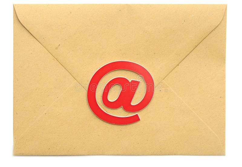 Почта с символом электронной почты стоковое изображение