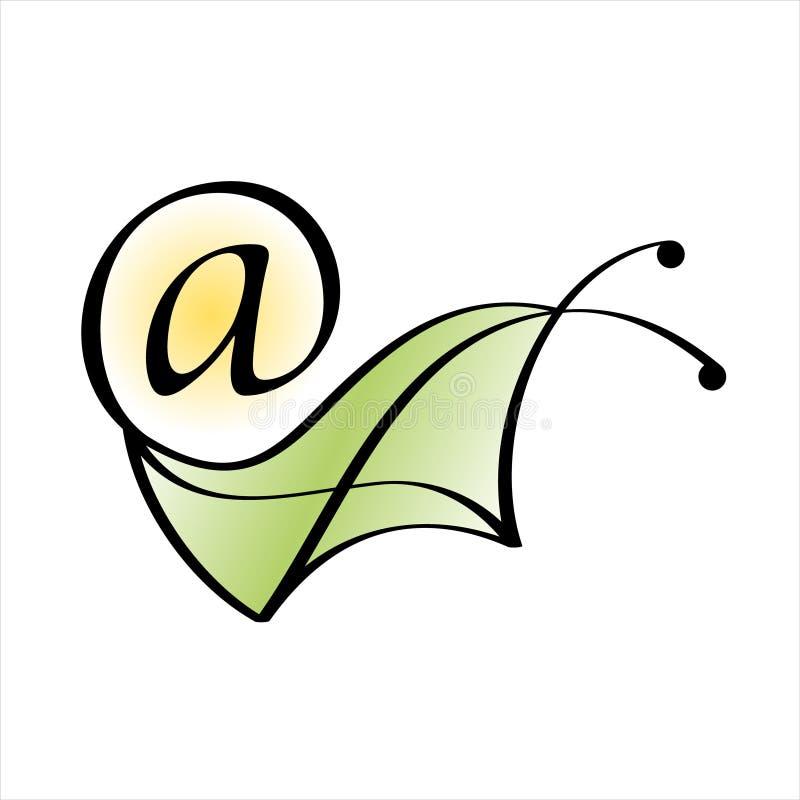 Почта улитки. Икона электронной почты иллюстрация вектора