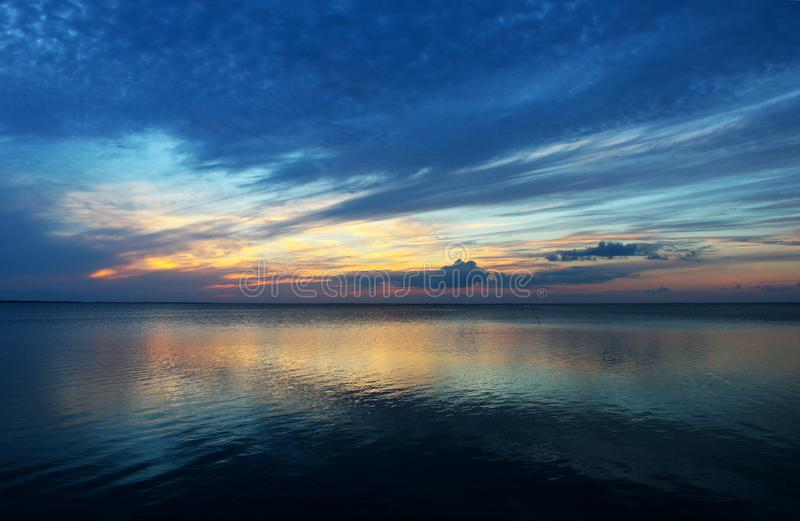 Почти заход солнца южное Padre стоковое изображение
