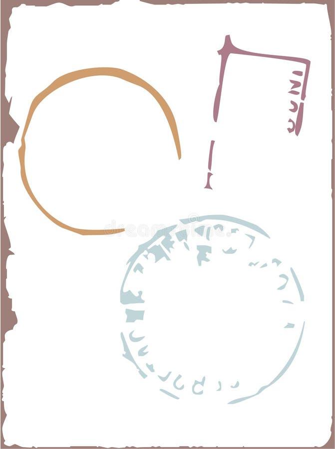 почтовая оплата элементов конструкции иллюстрация вектора