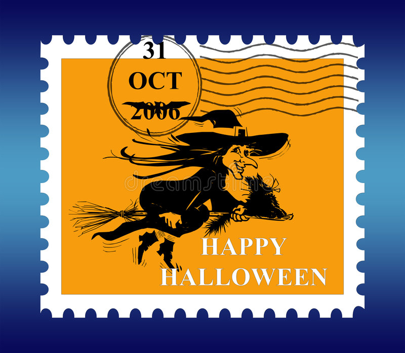 Download почтовая оплата halloween иллюстрация штока. иллюстрации насчитывающей лимитировано - 1187731