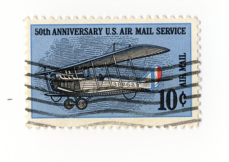 почтовое обслуживание годовщины воздуха 50 штемпелюет нас стоковое фото rf