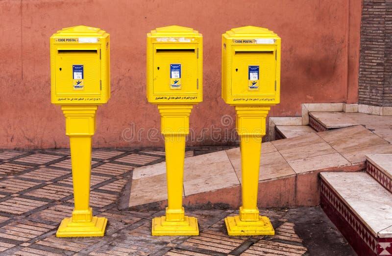 Почтовые ящики в Marrakesh стоковые изображения rf