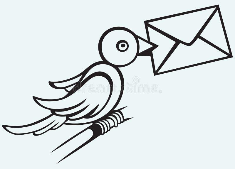 Почтовый голубь иллюстрация вектора