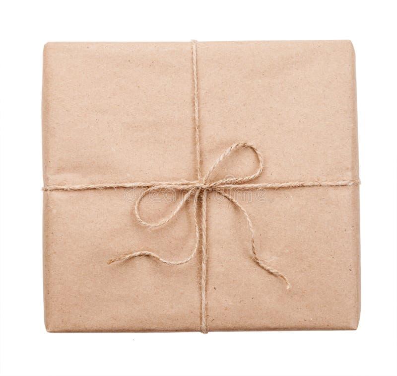 Почтовый пакет на белой предпосылке стоковые фото
