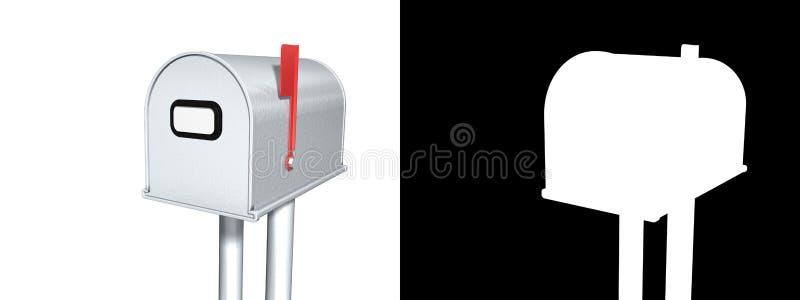 почтовый ящик альфаы иллюстрация штока