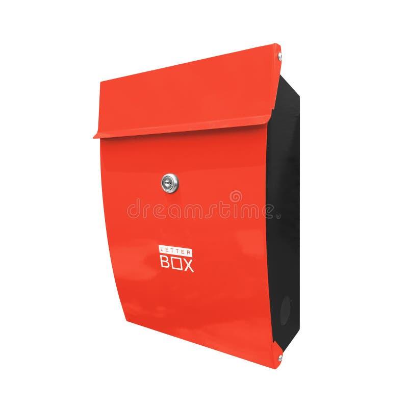 почтовый ящик изолированный на белизне стоковое фото