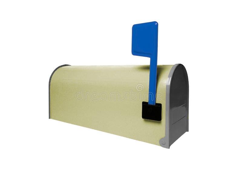 Почтовый ящик изолированный на белизне стоковая фотография