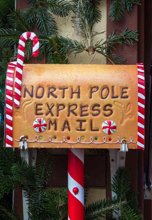 Почтовый ящик письма Санта Klaus рождества стоковое изображение