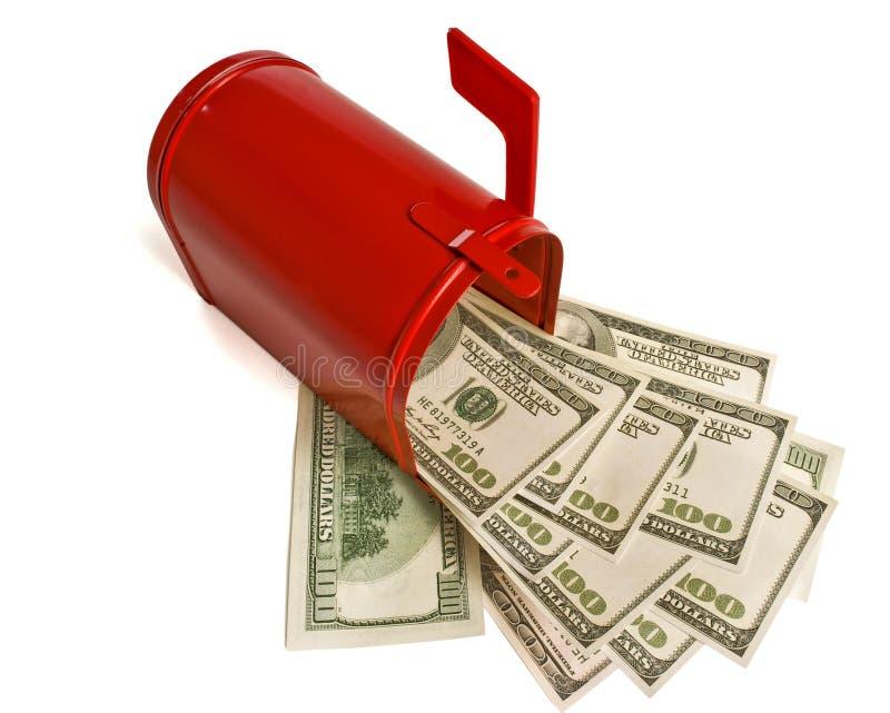 Почтовый ящик с деньгами стоковое фото rf