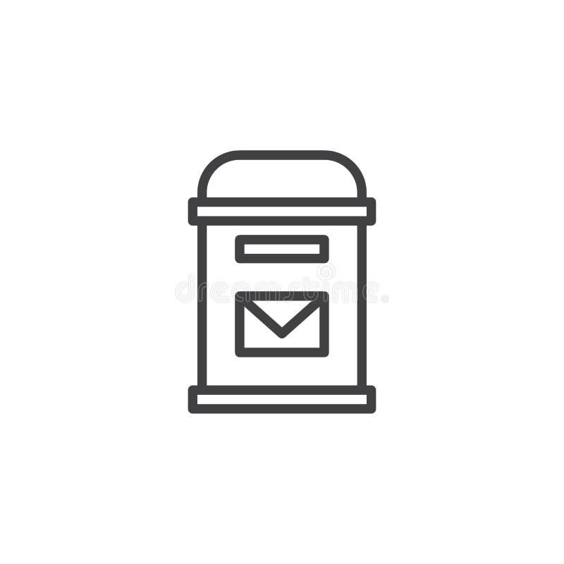 Почтовый ящик с значком плана конверта иллюстрация штока