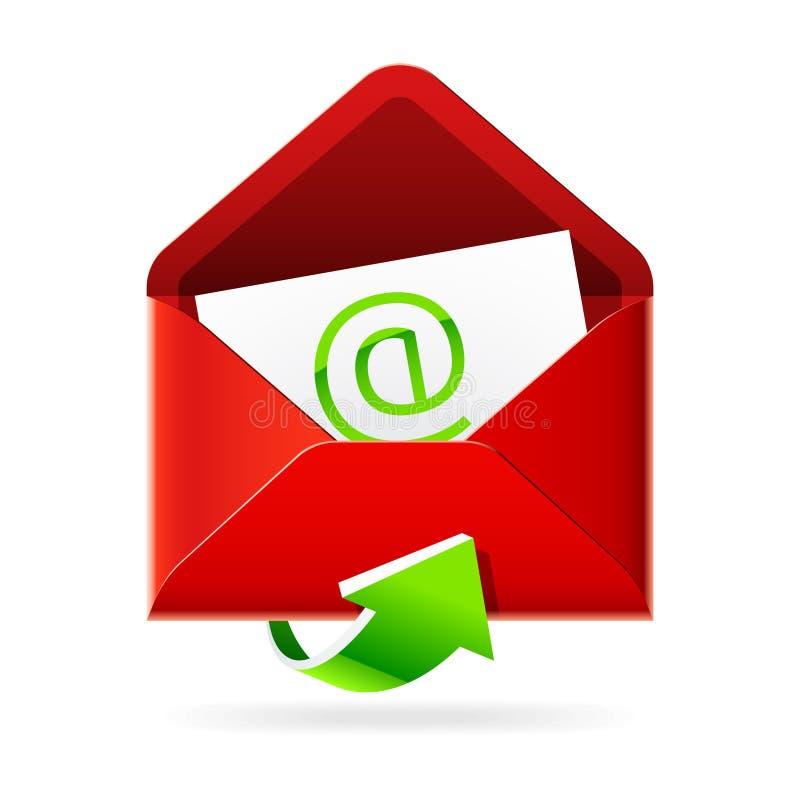 почты inbox иконы иллюстрация вектора