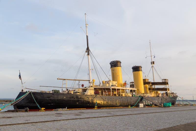 Пошлина Suur ледокола в гавани гидросамолета стоковая фотография rf