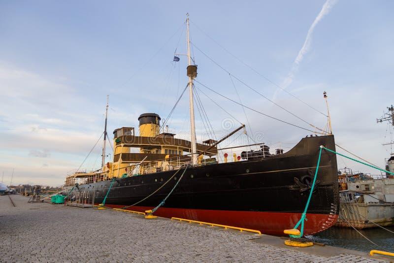 Пошлина Suur ледокола в гавани гидросамолета стоковая фотография