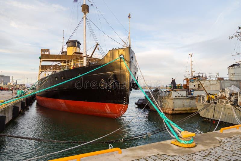 Пошлина Suur ледокола в гавани гидросамолета стоковое фото
