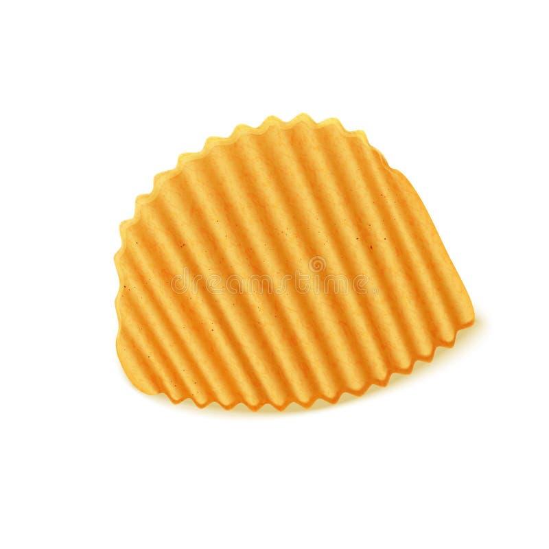 Пошученные над картофельные стружки иллюстрация штока