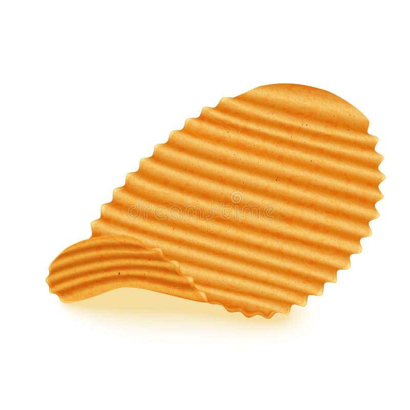 Пошученные над картофельные стружки иллюстрация вектора