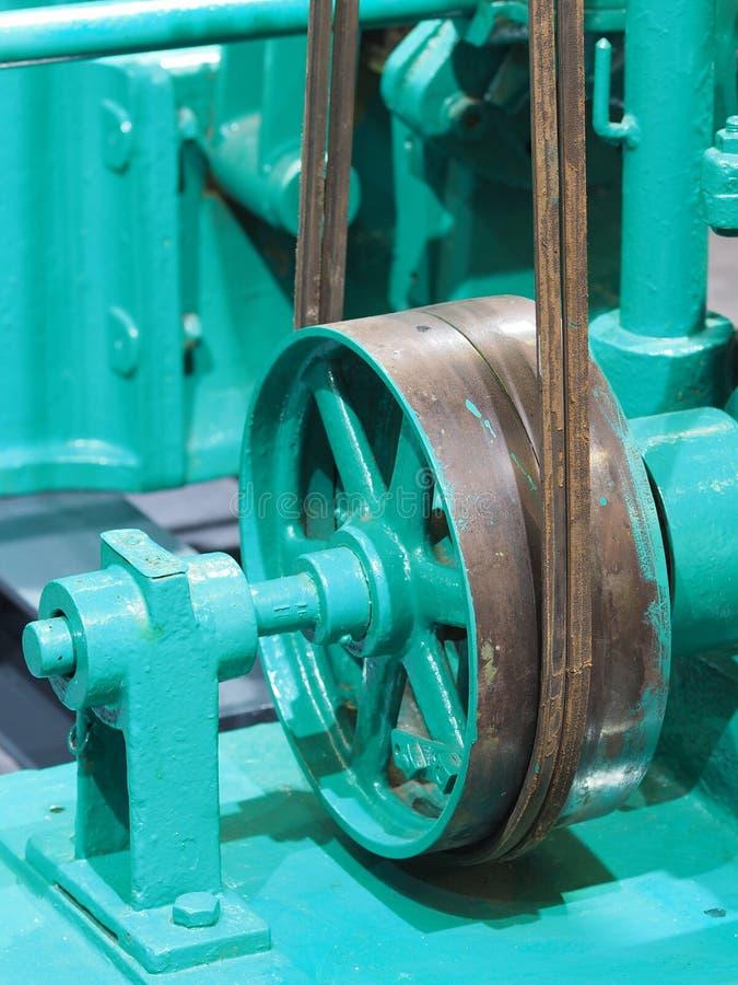 Пояс привода и колесо исторической машины стоковое изображение