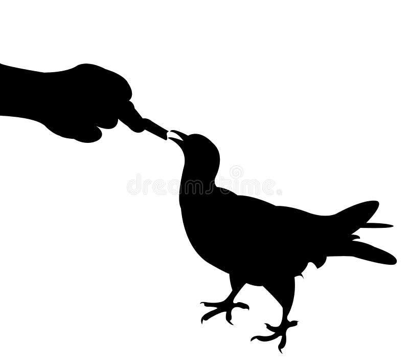 Подавать птица бесплатная иллюстрация