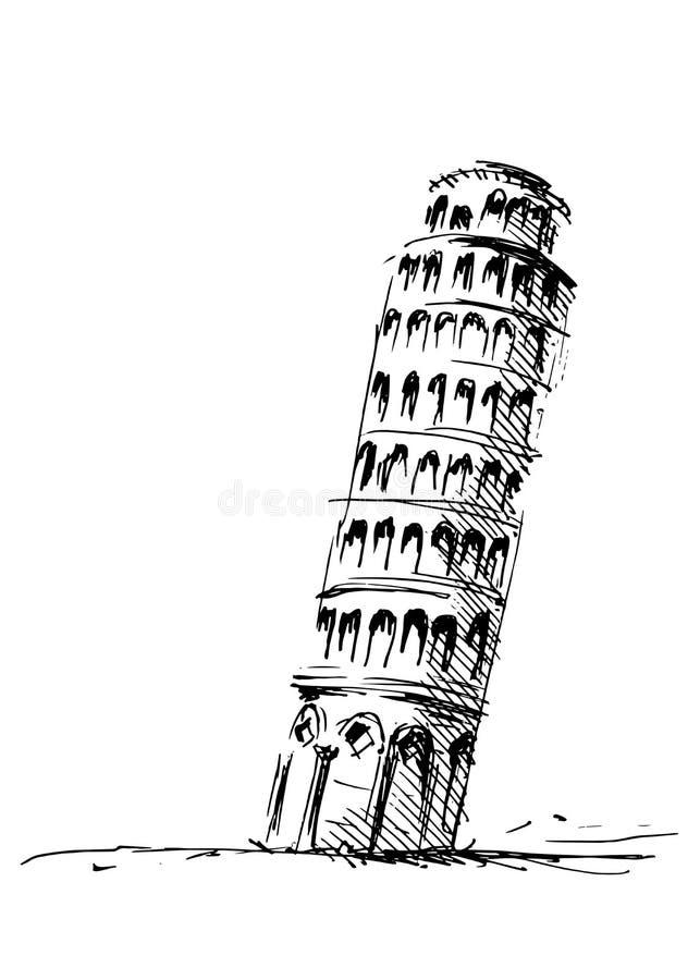 полагаясь башня pisa бесплатная иллюстрация