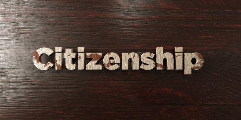 Подданство - grungy деревянный заголовок на клене - представленное 3D изображение неизрасходованного запаса королевской власти иллюстрация штока