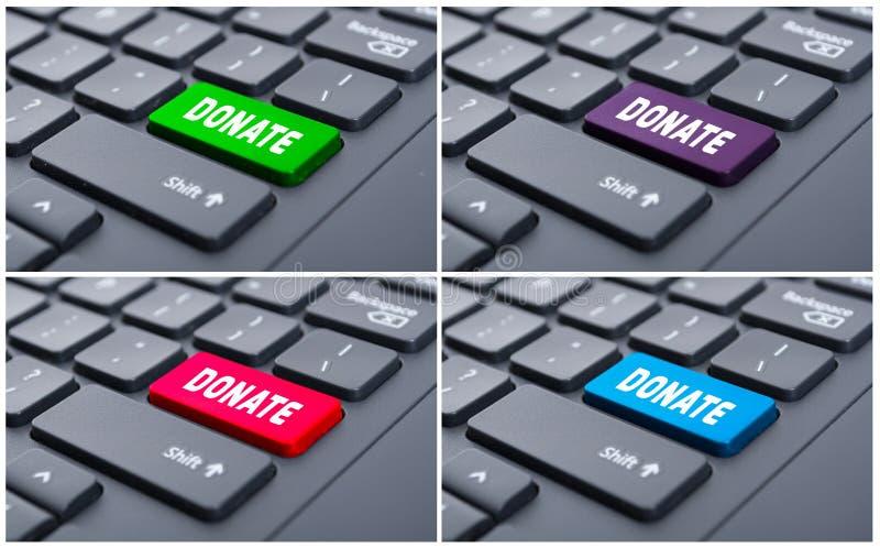 Подарите кнопку на клавиатуре компьютера стоковые фото