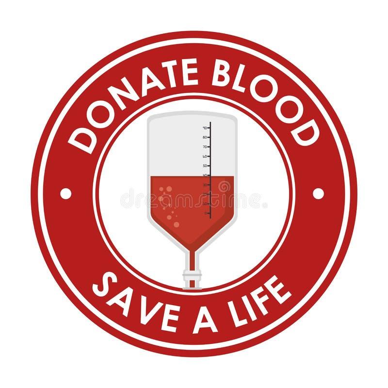 Подарите спасение крови значок жизни бесплатная иллюстрация