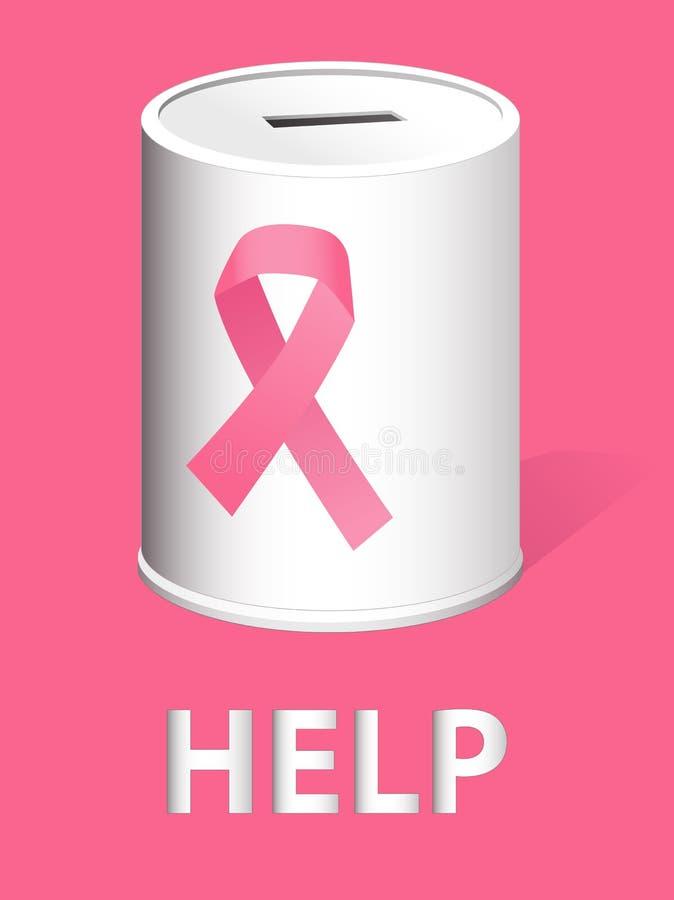 Подарите для онкологического исследования и предохранения рака молочной железы иллюстрация вектора
