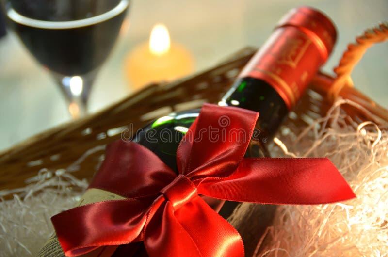 Подарок вина стоковое фото rf