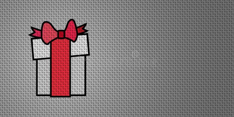 Подарок на рождество вектора бесплатная иллюстрация