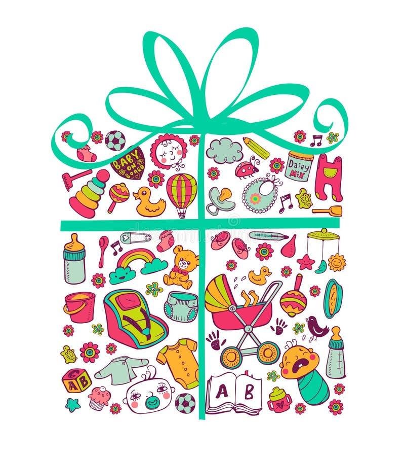 Подарок для babyboy бесплатная иллюстрация