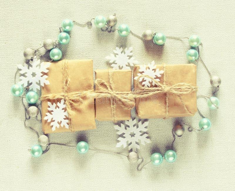 Подарочная коробка рождества 3 стоковые фотографии rf