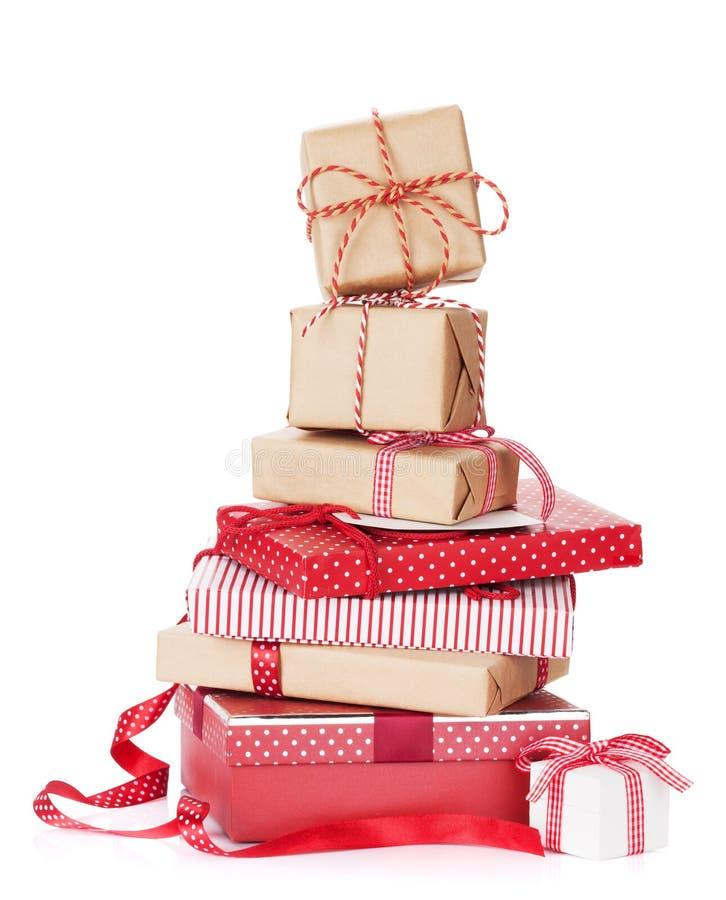 Подарочные коробки рождества стоковое изображение rf